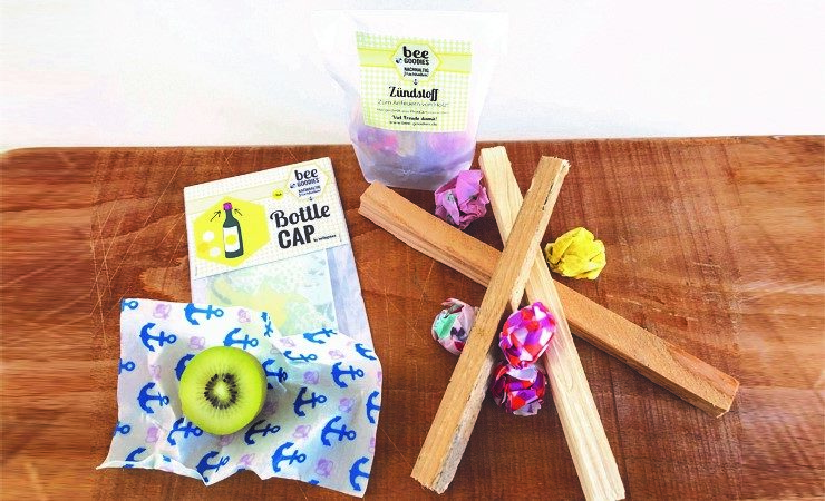 beeGoodies beeswax wraps – leftovers become new products