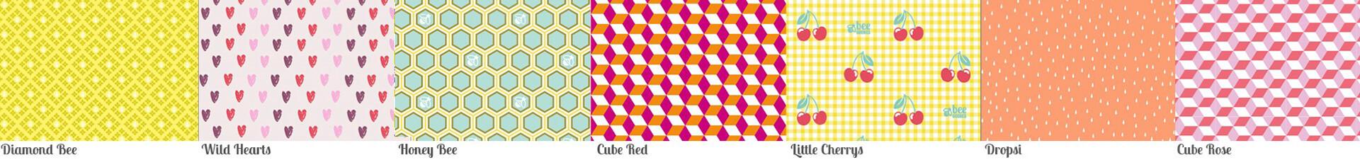 Musterübersicht: 23 x 23 cm